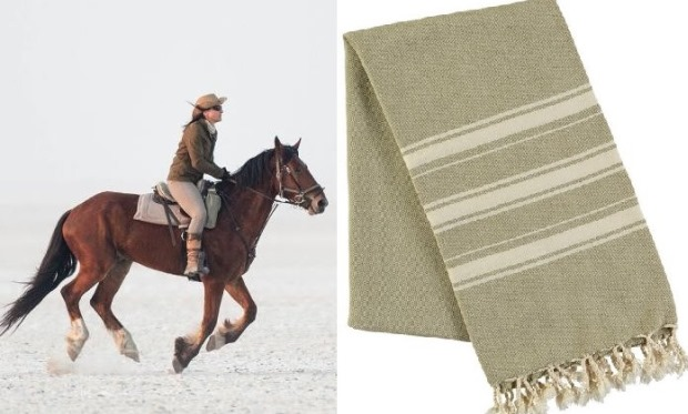 Hickman and Bousfield - Haman Towel - Sage