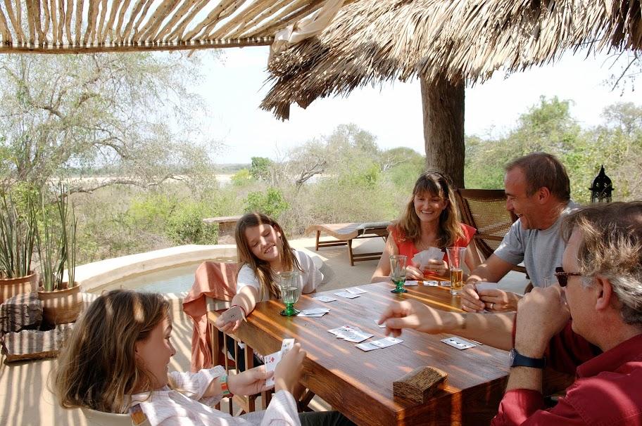 Family time, Kiba Point, Selous, Tanzania