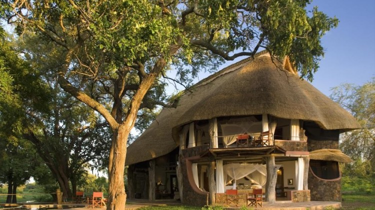 Luangwa Safari House exterior - the tranquil setting of Luangwa Safari House, South Luangwa, Zambia