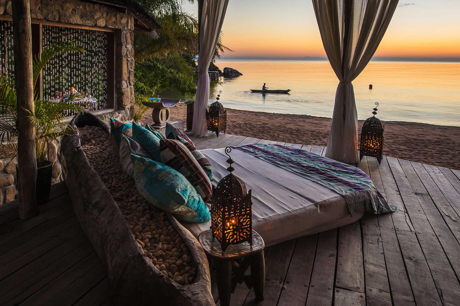 Sunset on Lake Malawi, Kaya Mawa