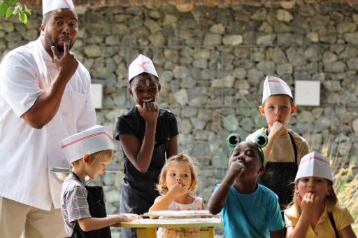 Children's cookery classes at Phinda