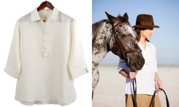 Hickman and Bousfield - Safari Shirt In White Linen