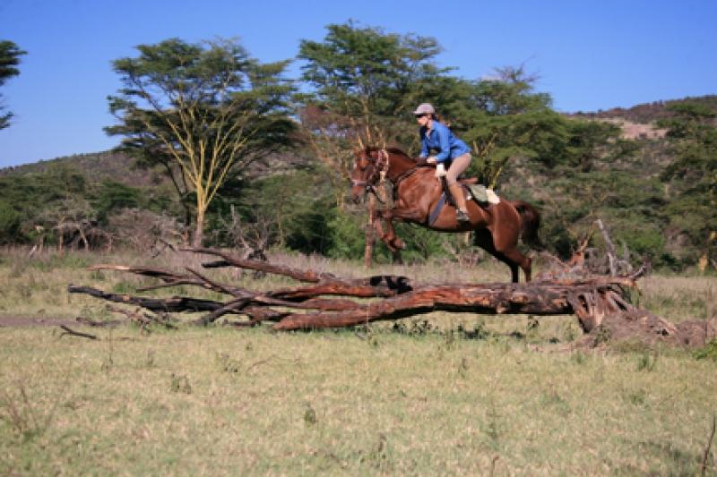Alice rides in Kenya, with Offbeat Safaris