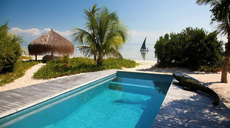 Luxury private pool overlooking the beach, Villa Amiza, Azura Benguerra, Mozambique