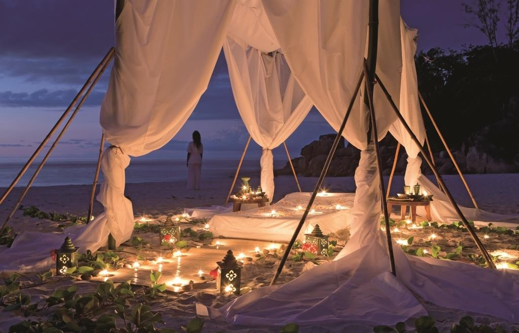 Star bed on the beach, Lemuria, Seychelles