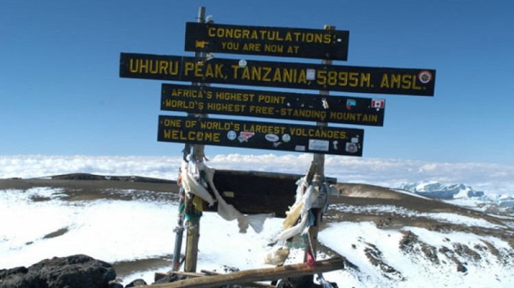 Top of Kilimanjaro - summit sign