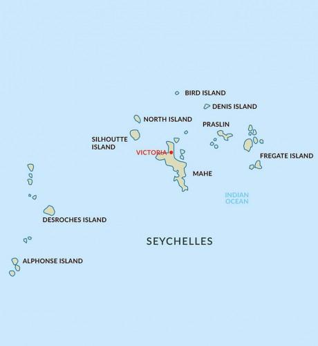 Seychelles Aardvark Safaris - Seychelles victoria map indian ocean