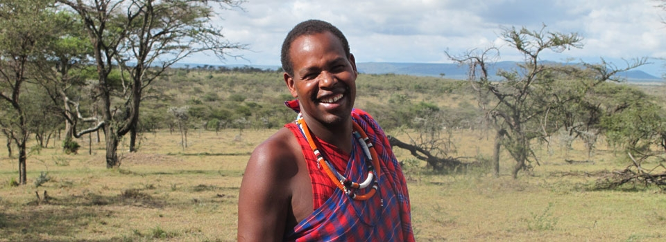 Jackson Looseyia Kenyan guide extraordinaire. Masai warrior, village elder, co-owner of Rekero Camp