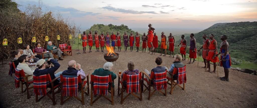 Masai tribal dancing, Angama Mara, Kenya