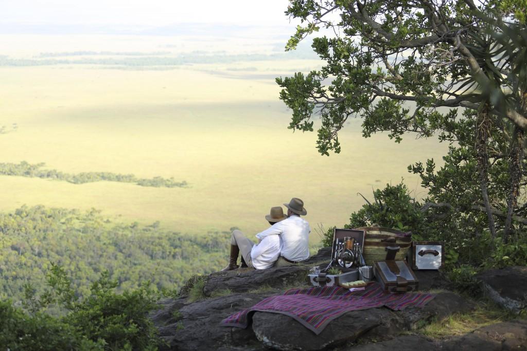 Romantic picnic, Angama Mara, Masai Mara, Kenya