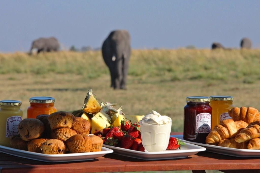 Breakfast croissants, Chobe Under Canvas, Chobe, Botswana