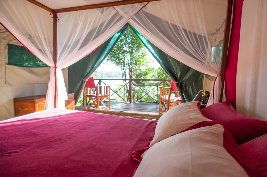 Bedroom tent at Mandrare River Camp luxury Madagascar holidays