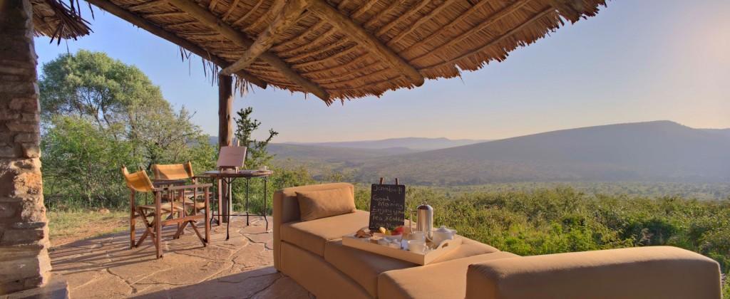 Tea at Klein's Camp, Serengeti, Tanzania