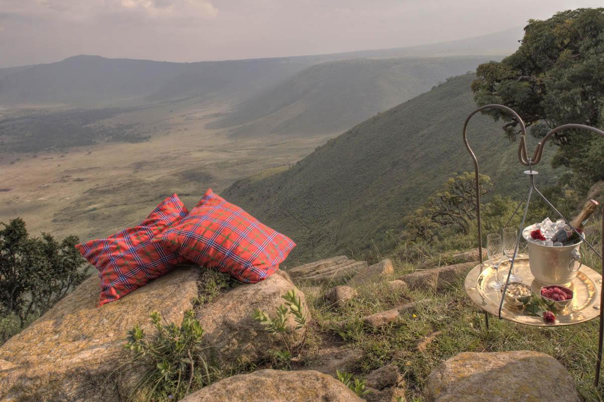 Ngorongoro Crater Lodge views