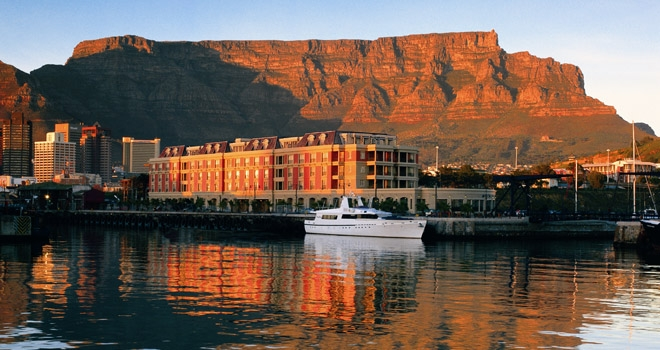 Cape Grace overlooking historical V&A waterfront