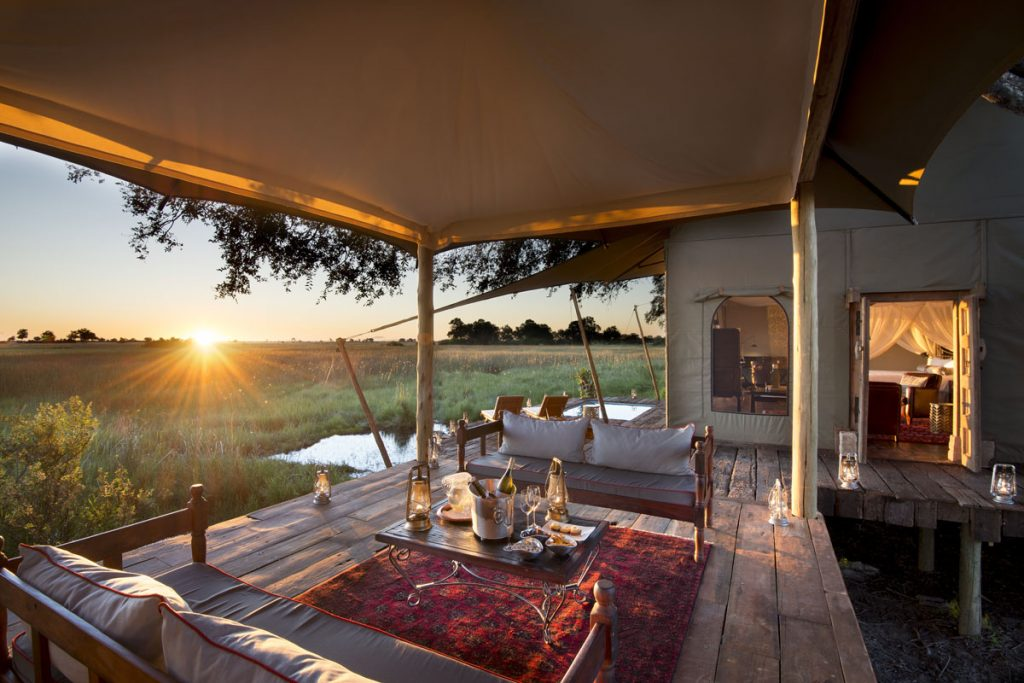 Duba Plains Camp in the Okavango Delta