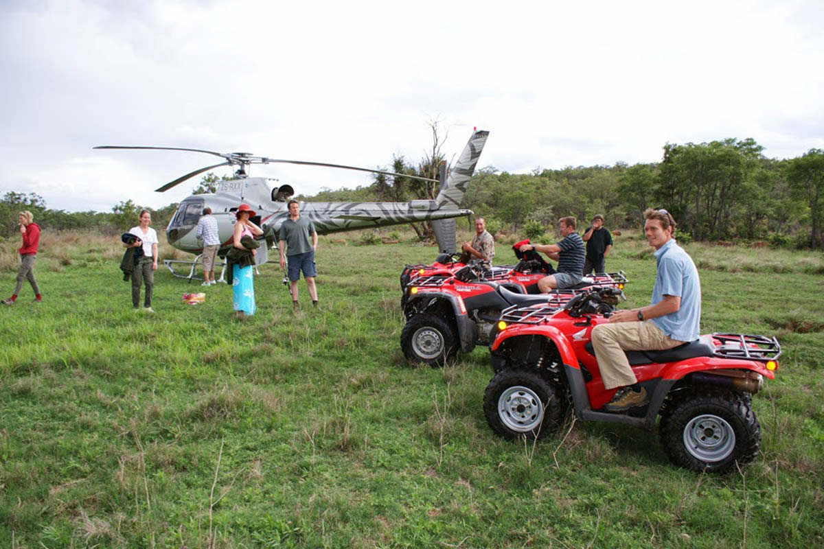 Leobo Observatory quad bikes and helicopter
