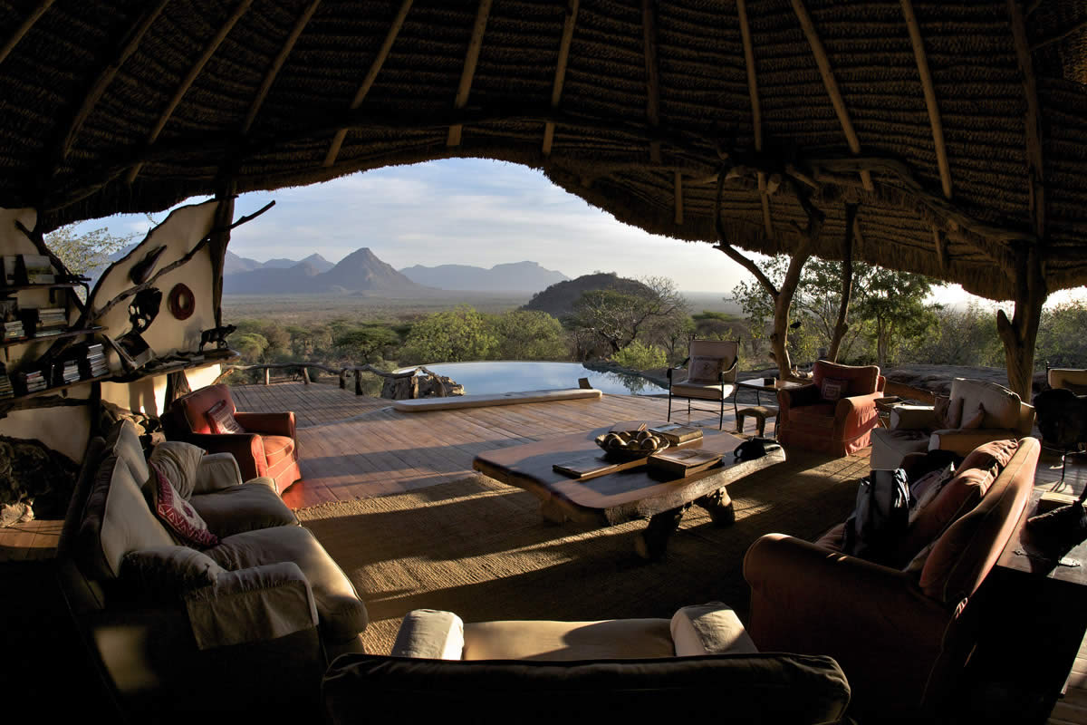 Sarara Camp, Mathews Mountains, Kenya, close to Reteti Elephant Orphanage where guests can visit rescued elephant similar to those featured on A Perfect Planet