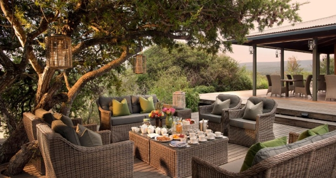 Alfresco tea break, Kwandwe Ecca Lodge, Cape region