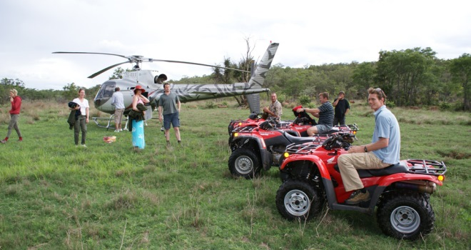 Quadbiking and helicopter safaris, at Leobo Observatory, Waterberg