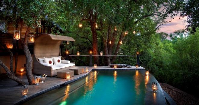 Tranquil pool at Morukuru River House, Madikwe