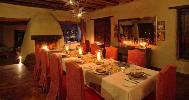 Cosy dining at Phinda Rock Lodge, KwaZulu-Natal