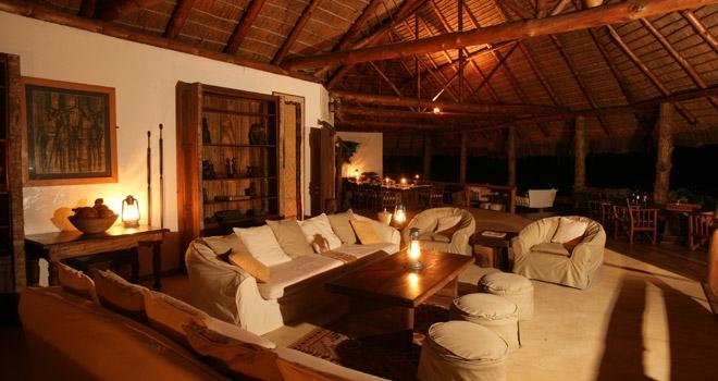 Stylish lounge, Semliki Safari Lodge Uganda safari