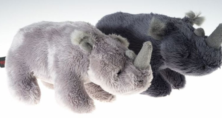 Save the Rhino - two soft cuddly rhino toys gift for children for charity