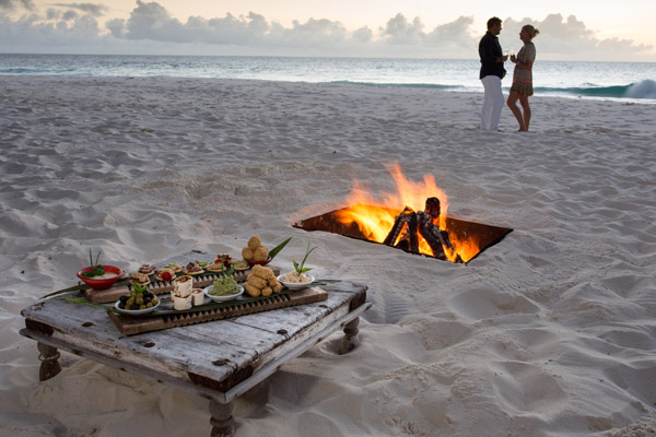 North Island, Seychelles, beach dining