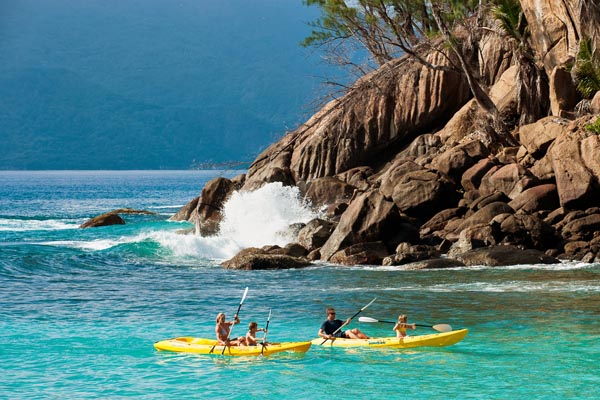 North Island, Seychelles, kayaking
