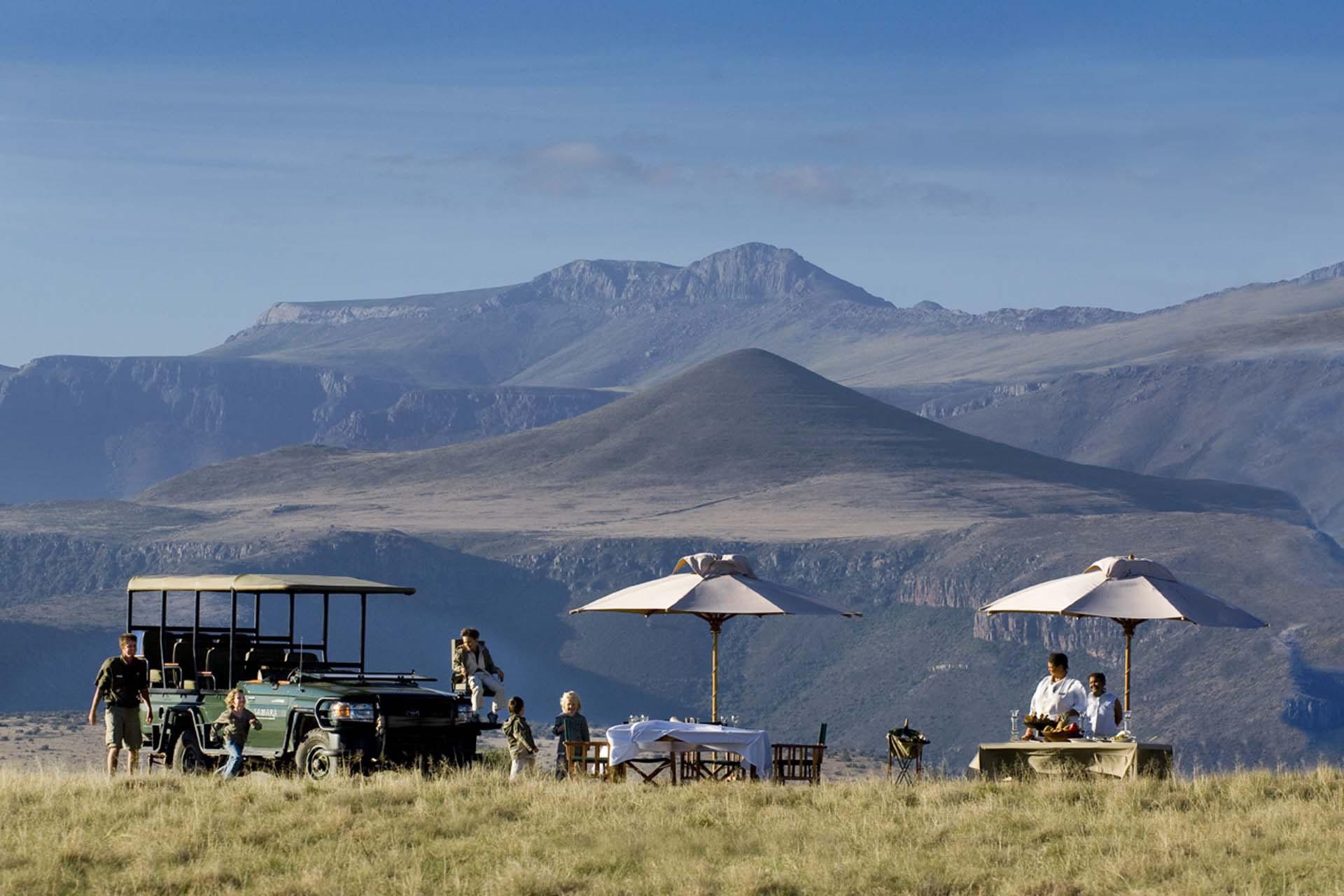 Samara picnic on a safari drive in the Eastern Cape South Africa