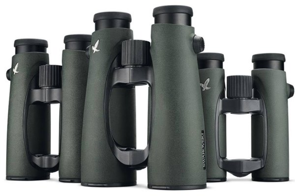 Set of three Swarovski binoculars for safari