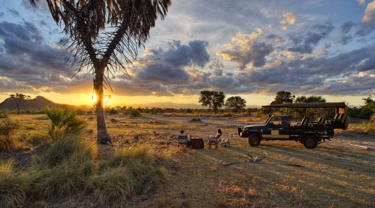 day on safari sundowners in the bush