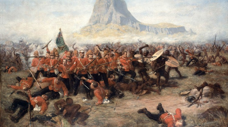 south african battlefields Zulu War-Battle of Isandlwana-1879 painting source wikipedia