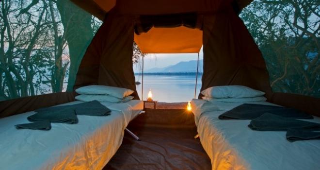 slider_ruwesi_canoe_tent_interior canoe safaris fly camping option