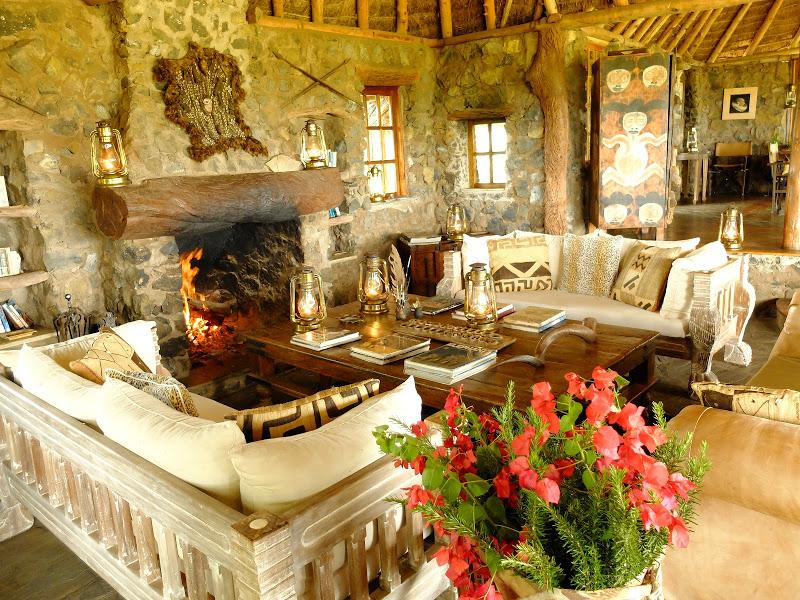 Campi Ya Kanzi Accommodation lounge Chyulu Hills Kenya