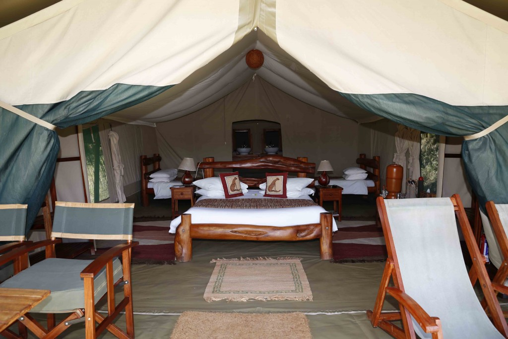 Family quad tent, Kicheche Mara, Masai Mara