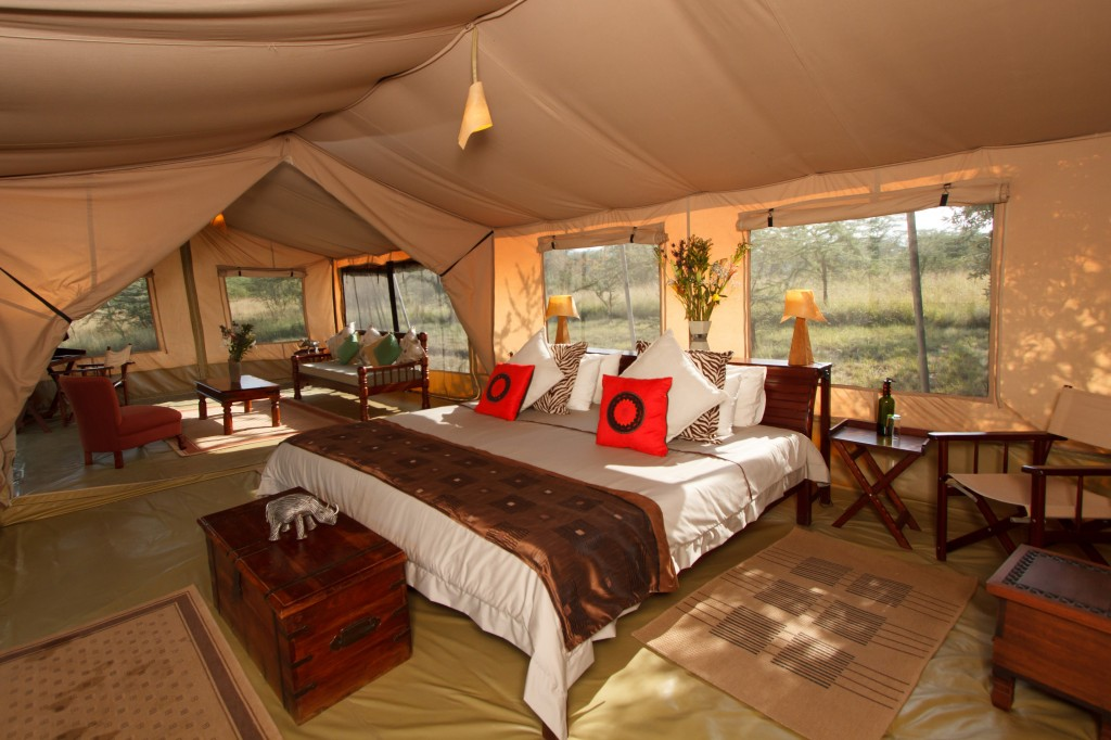 Leleshwa tent interior suite loita hills Kenya
