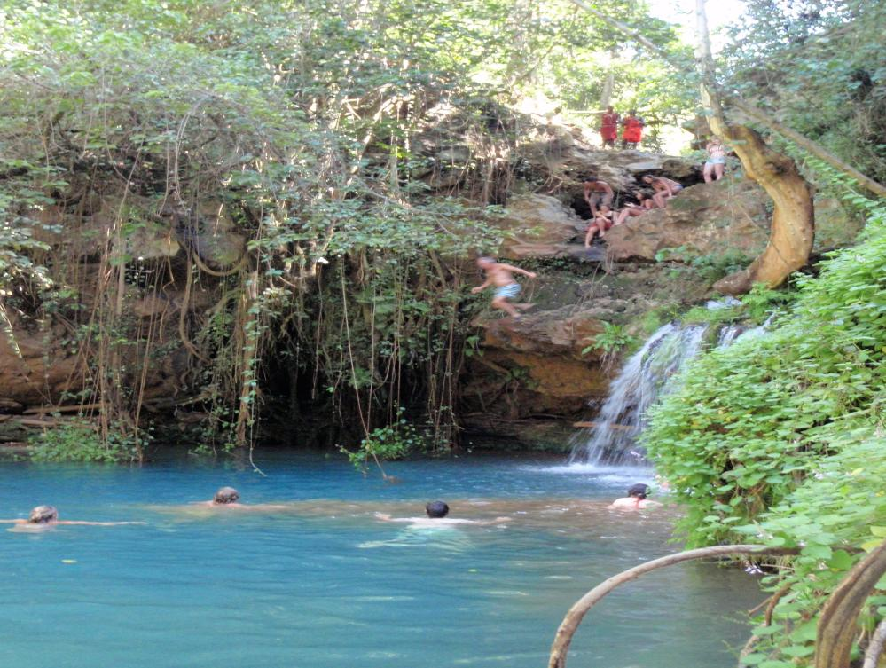 Lewa Wilderness - swimming in forest masai kenya