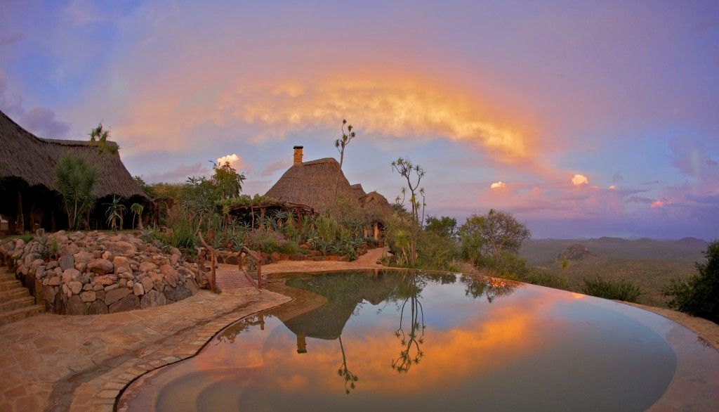 Ol Malo House pool and view laikipia - safari holidays in Kenya