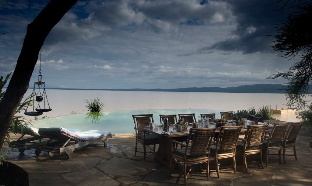The Safari and Conservation Company - Samatian pool overlooking lake Kenya