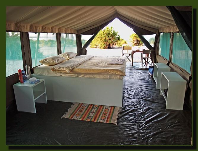 Lobolo tent interior, Lake Turkana