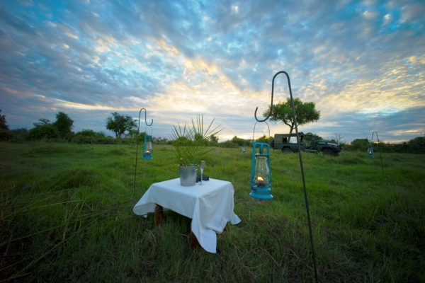 Duba Plains - Private Sundowner - Great Plains Conservation