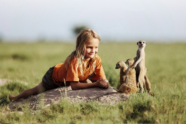 Friendly habituated meerkats, Makgadikgadi salt pans, Uncharted Africa