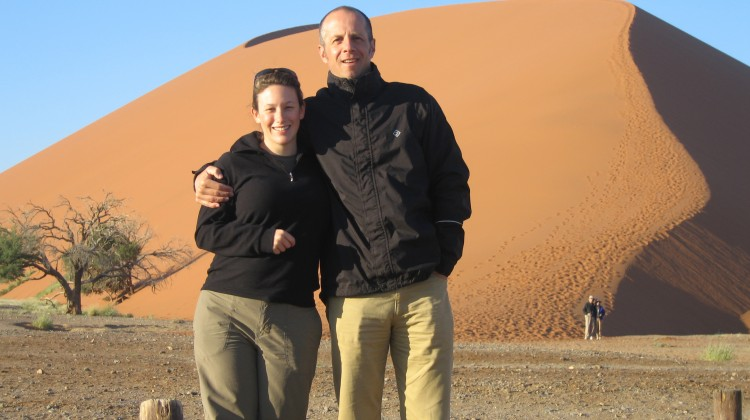 Sales Consultant Victoria and Operations Manager Richard Smith in the Namibian desert