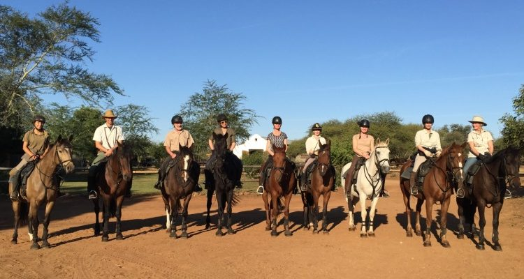 Alice Gully with horse riding group on a riding safari in South Africa with Wait a Little Safaris, near Kruger