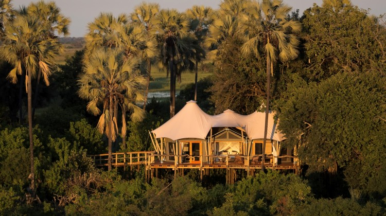 Kwetsani Lodge aerial, Okavango Delta, Botswana's beautiful lodges