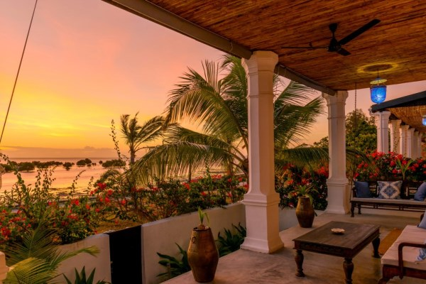 Sunset Veranda of the sea Ibo Island Quirimbas islands Mozambique