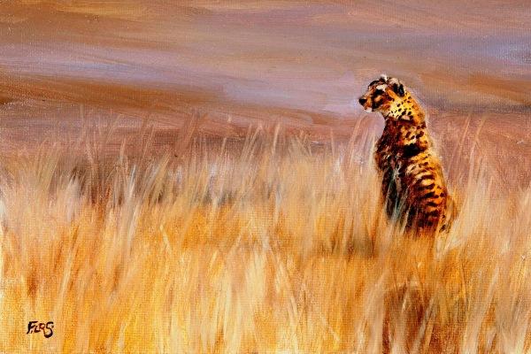 Francesca Sanders cheetah artist oil painting