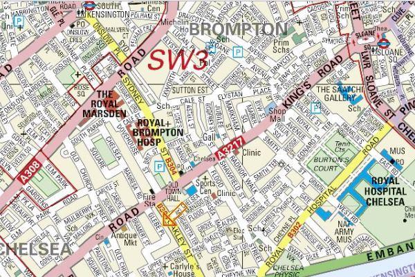Map The Studio Art Gallery 73 Glebe Place Chelsea London SW3 5JB